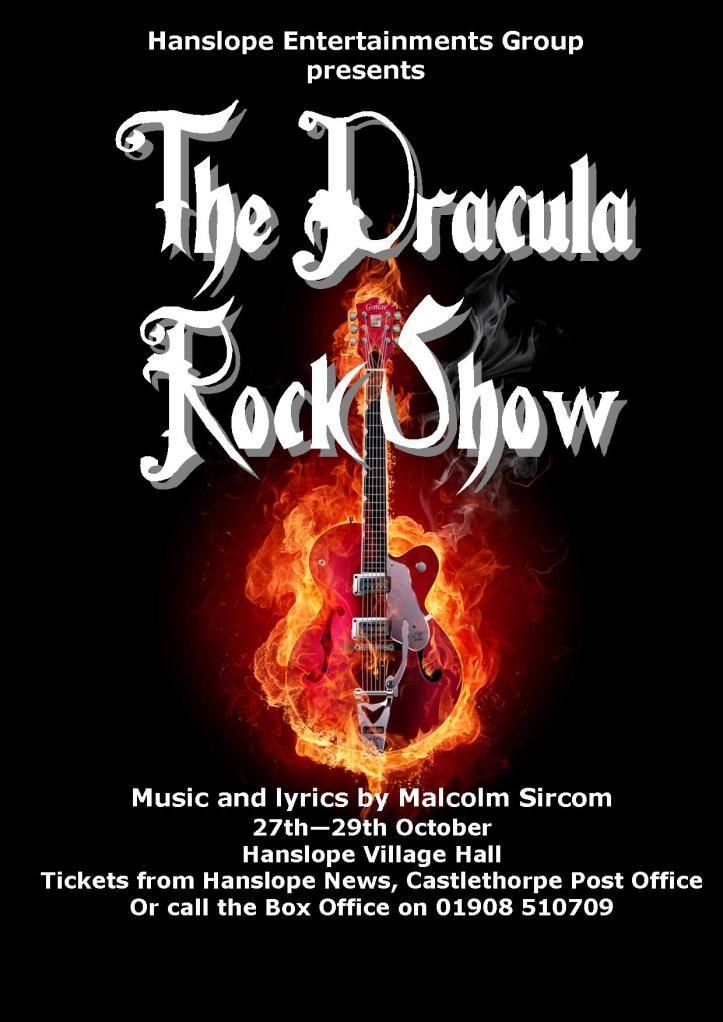 Tickets now available for the Dracula Rock Show | Hanslope ...